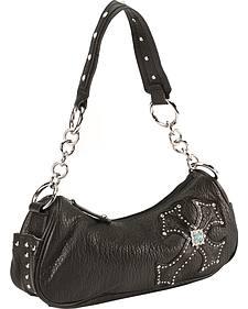 Blazin Roxx Black Cross Overlay Handbag