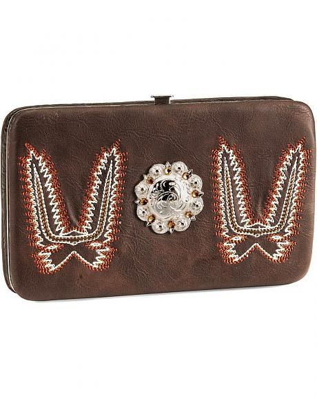 Savana Boot Stitch Frame Western Wallet