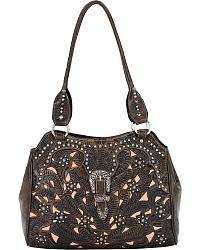 American West Tumbleweed Leather Tote at Sheplers