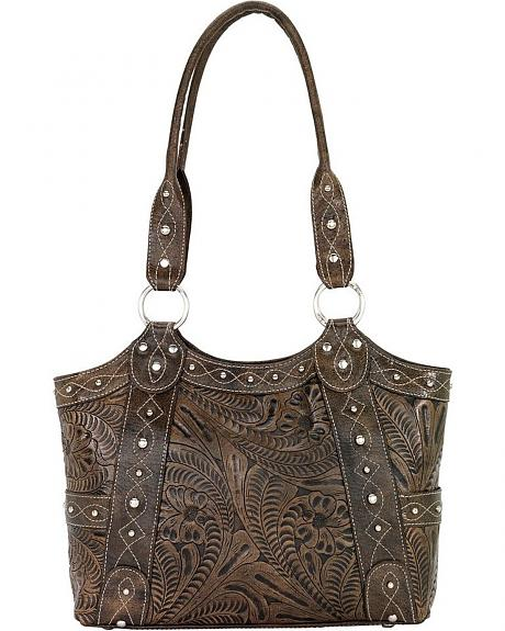 American West Over the Rainbow Leather Tote