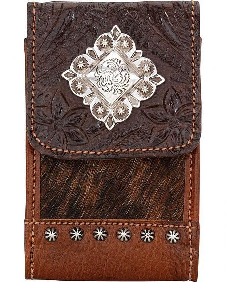 American West Embossed Hair-On Hide Cell Phone Case