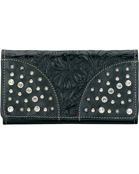 American West Fancy Embossed Leather Wallet