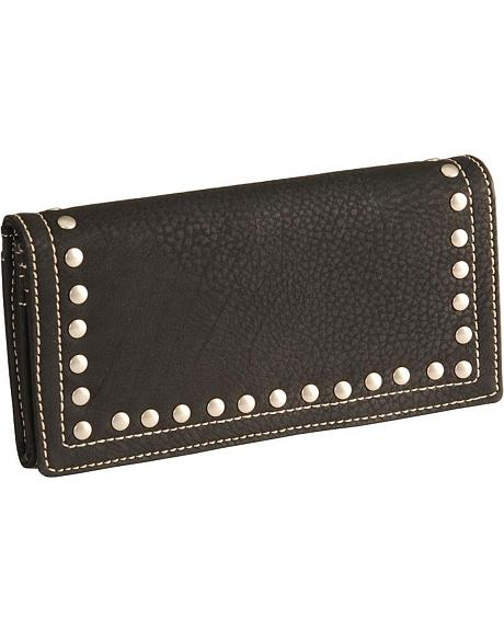 Bandana by American West Black Signature Flap Studded Wallet