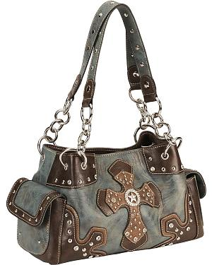 Blazin Roxx Blue Star Cross Satchel