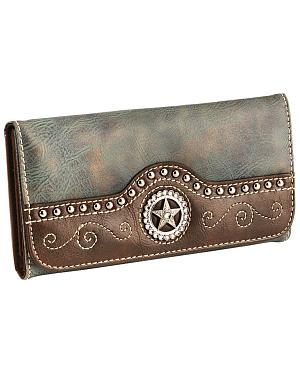 Blazin Roxx Blue Star Cross Wallet