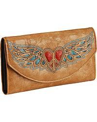 Blazin Roxx Heart & Wing Wallet at Sheplers