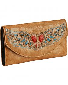 Blazin Roxx Heart & Wing Inlay Wallet