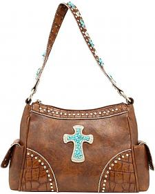 Blazin Roxx Stud & Cross Shoulder Bag