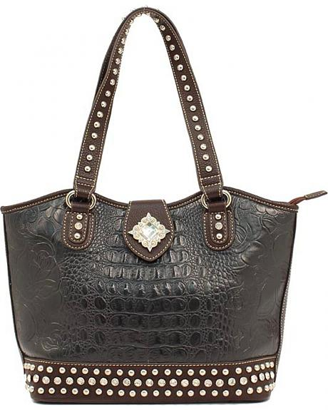 Blazin Roxx Floral Embossed Bucket Bag