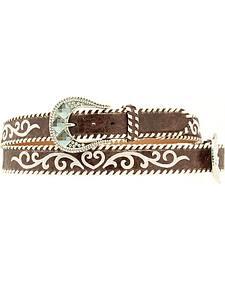 Nocona Vintage Whipstitched Leather Belt