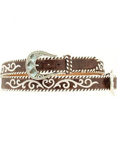 Nocona Vintage Whipstitched Leather Belt
