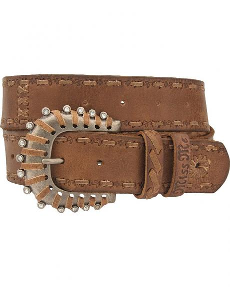 Miss Me Laced Strap & Buckle Belt