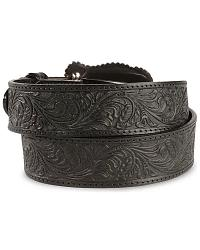 Tony Lama Black Layla Leather Belt at Sheplers