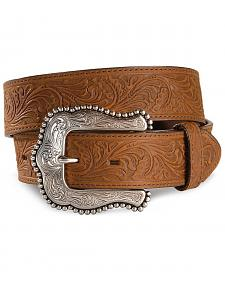 Tony Lama Brown Layla Leather Belt
