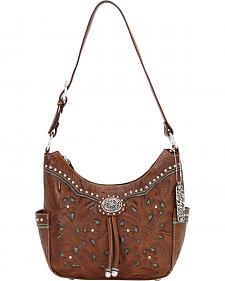 American West Lady Leather Hobo Bag