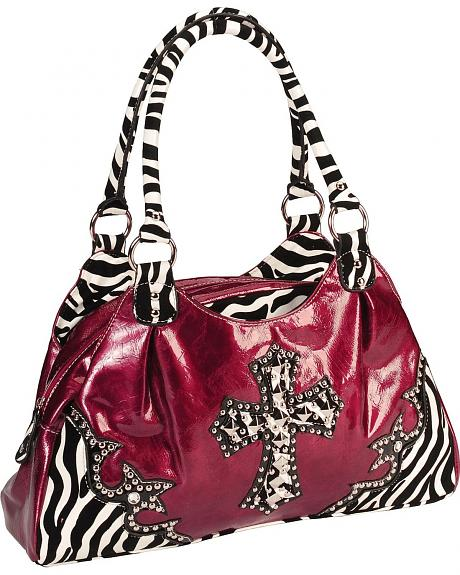Savana East Zebra Print Satchel