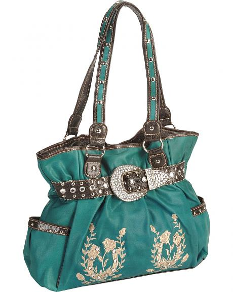 Savana Horseshoe Embroidered Tote