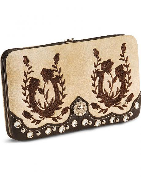 Savana Fancy Frame Stitched Wallet