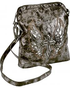 Blazin Roxx Cross with Wings Messenger Bag