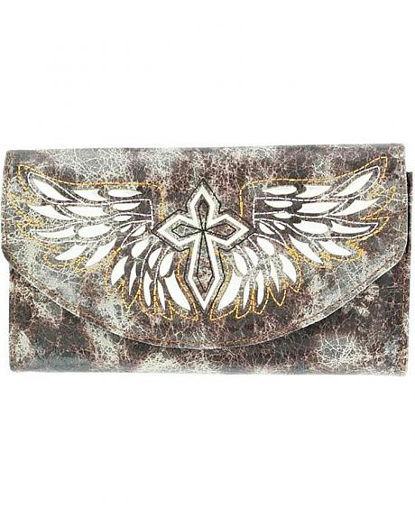 Blazin Roxx Cross with Wings Wallet
