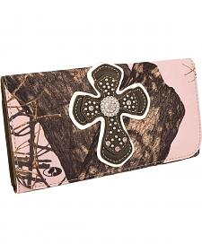 Blazin Roxx Mossy Oak with Cross Overlay Wallet
