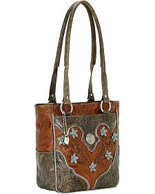 American West Desert Flower Zip Top Tote