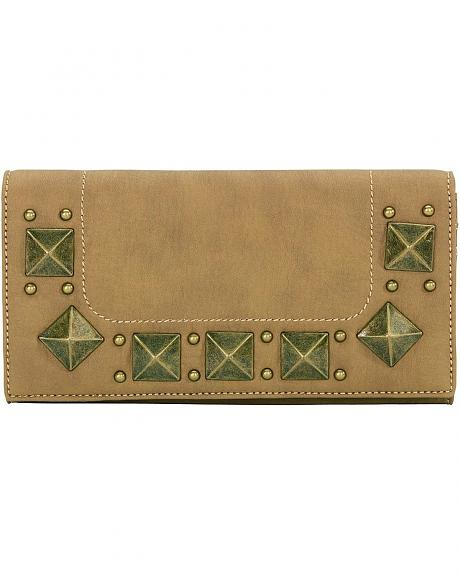 American West Bandana Houston Honey-Wheat Flap Wallet