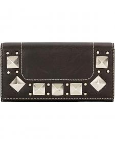 Bandana by American West Houston Black Flap Wallet