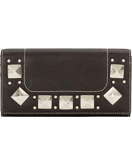 American West Bandana Houston Black Flap Wallet