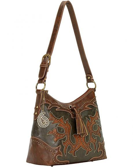 American West Bandana Nashville Zip Top Shoulder Bag