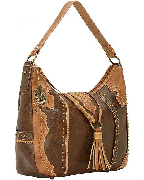 American West Bandana Topeka Zip Top Hobo Bag