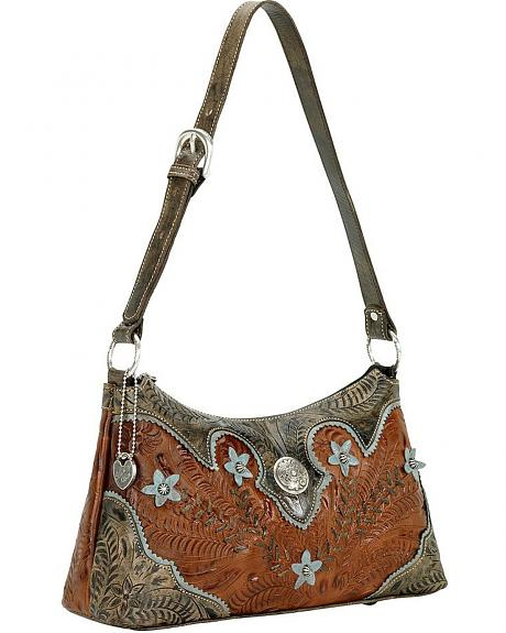 American West Desert Wildflower Zip Top Shoulder Bag