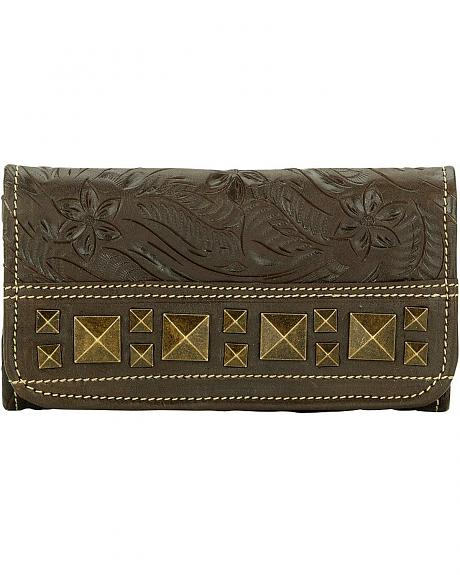 American West Elk River Tri Fold Wallet