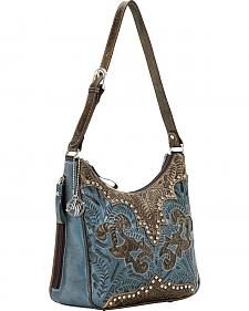 American West Annie's Secret Zip Top Shoulder Bag