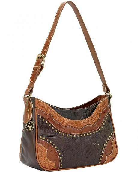 American West Calico Creek Zip Top Shoulder Bag