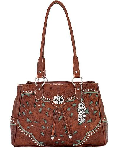American West Lady Lace Multi-Compartment Tote Western & Country LCBT471