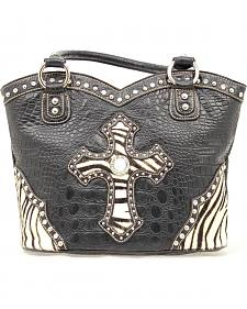 Blazin Roxx Zebra Cross Bucket Handbag