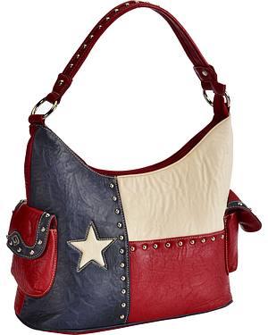 Blazin Roxx Texas Flag Bucket Handbag
