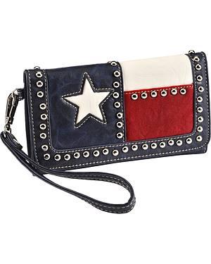 Blazin Roxx Texas Flag Faux Leather Wallet