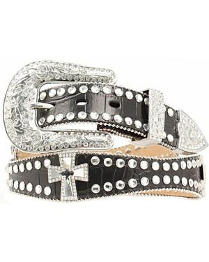 Blazin Roxx Scalloped Studded & Cross Belt