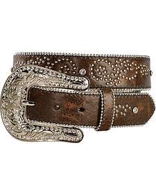 Nocona Rhinestone Embellished & Studded Belt