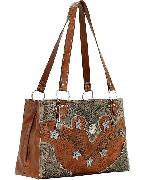 American West Desert Wildflower 3 Compartment Shoulder Bag