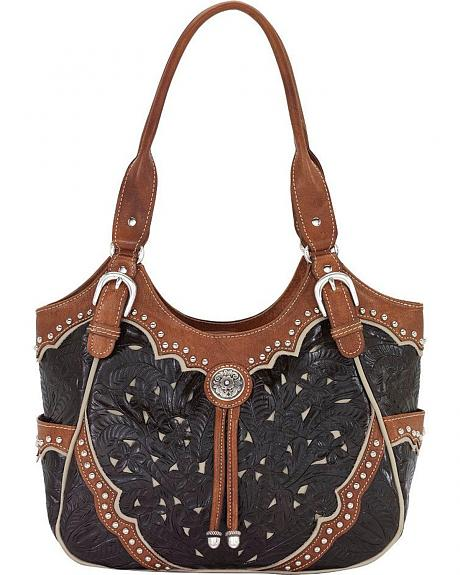 American West Black & Brown Tularosa Everyday Tote