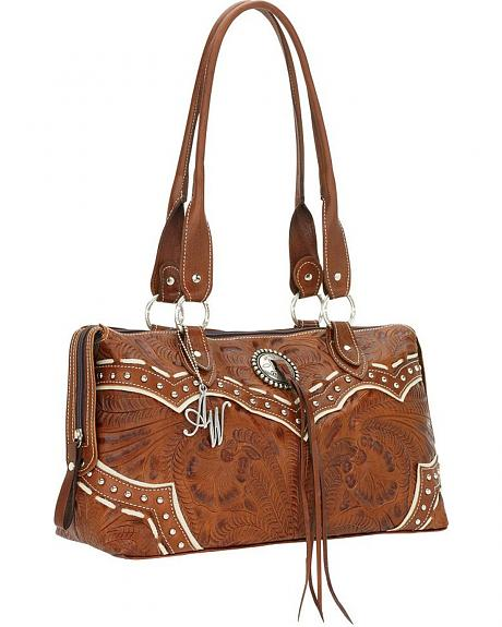 American West Sundance East-West Zip Around Tote