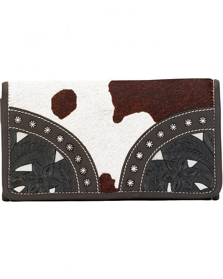 American West Prairie Tri-Fold Leather Wallet