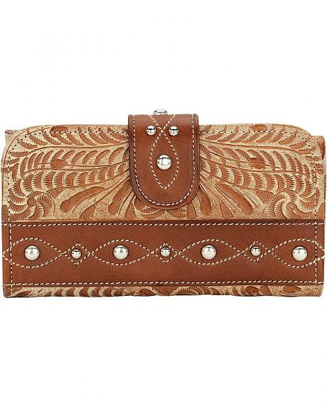 American West Over The Rainbow Tri-Fold Leather Wallet
