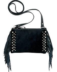 American West Chaps Fringed Hair-On-Hide Crossbody Handbag