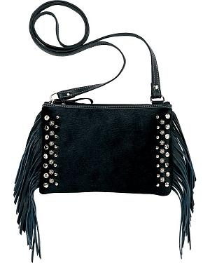 Bandana by American WestChaps Fringed Hair-On-Hide Crossbody Handbag