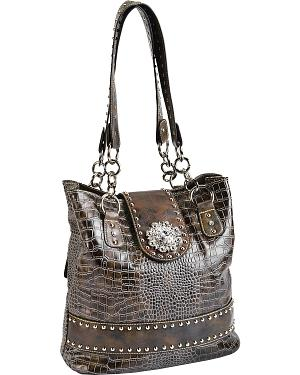 Blazin Roxx Blue Concho Concealed Carry Shoulder Bag