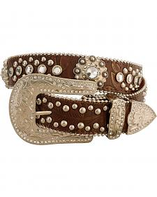 Red Ranch Embossed with Conchos Belt